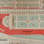 Ausschnitt aus einem Plan des Schlossparks Schönbrunn von um 1870