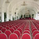 Der Veranstaltungsbereich im Schönbrunner Orangeriegebäude